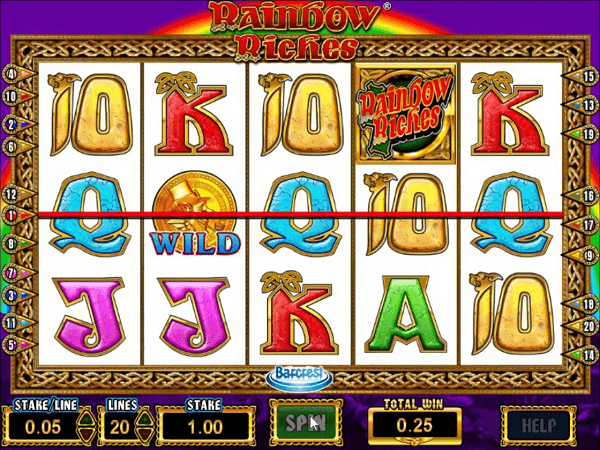 Enjoy Sky Vegas Rainbow Riches Free Play