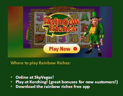 Free Fruit Machine Games Rainbow Riches