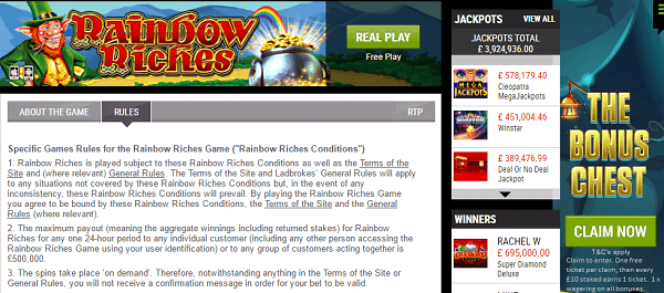 Free Slot Machines Rainbow Riches