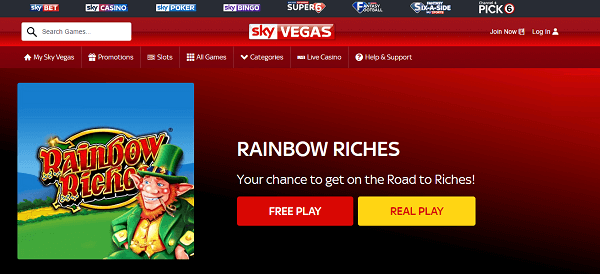 Free slots Rainbow Riches  Barcrest