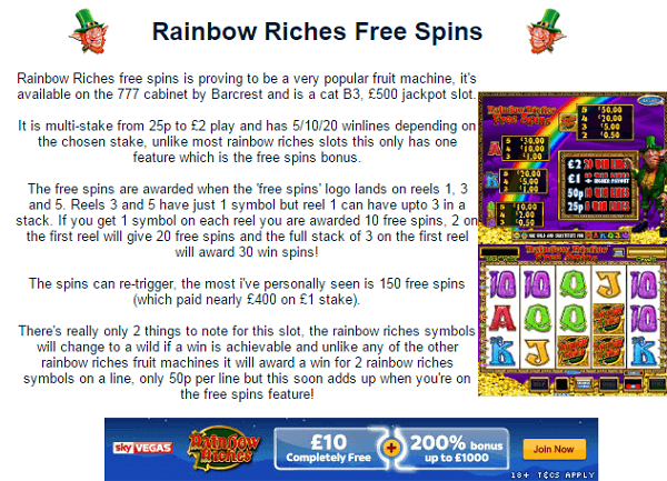 How to Win on Rainbow Riches
