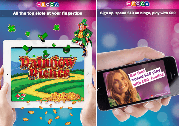 Mecca Rainbow Riches mobile