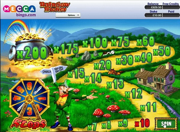 Mecca Rainbow Riches road to riches