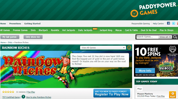 Paddy Power Games Rainbow Riches
