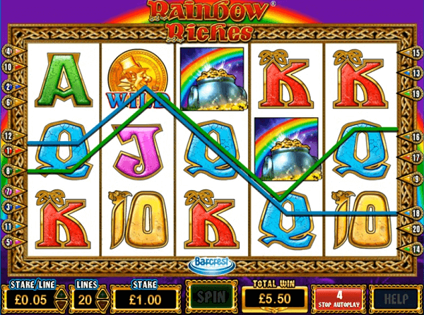 play Rainbow Riches free online