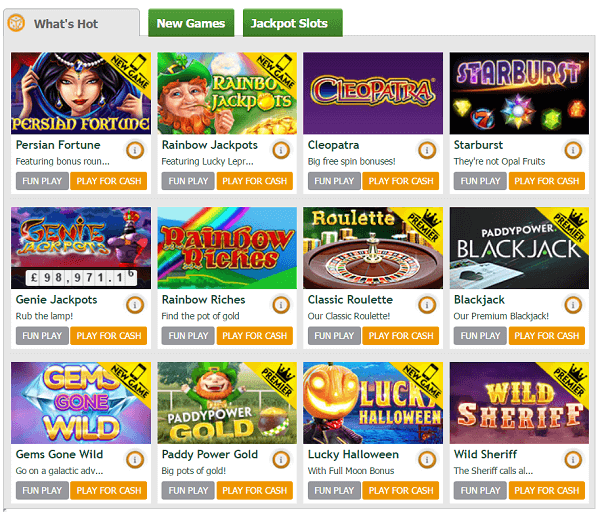 Rainbow Riches and other games