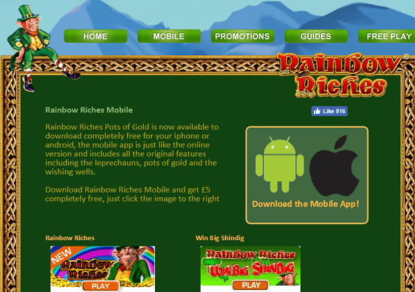 Rainbow Riches Android