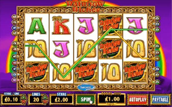 Rainbow Riches big win per spin