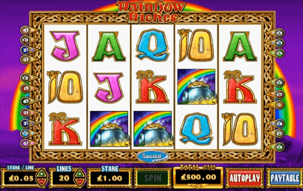 Rainbow Riches big win