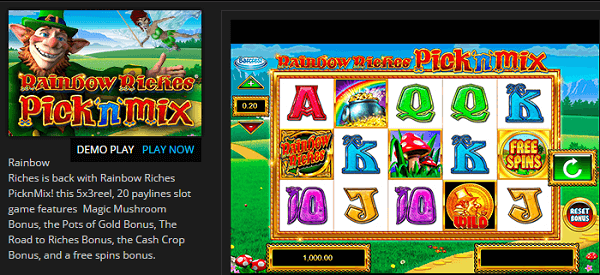 Rainbow Riches Free Demo Play