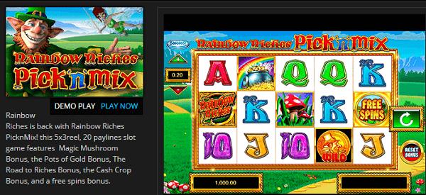 Rainbow Riches Free Demo Play
