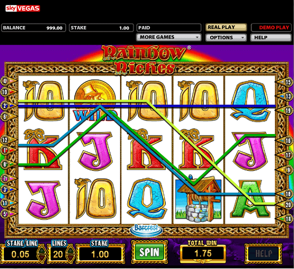 Rainbow Riches Free Games online slot