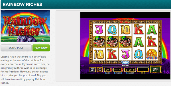 Rainbow Riches Free Play Demo