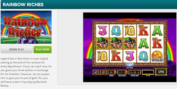 Rainbow Riches Free Play Demo