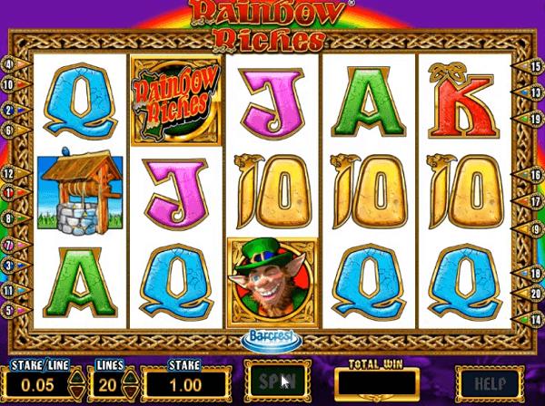 Rainbow Riches free play slots symbols