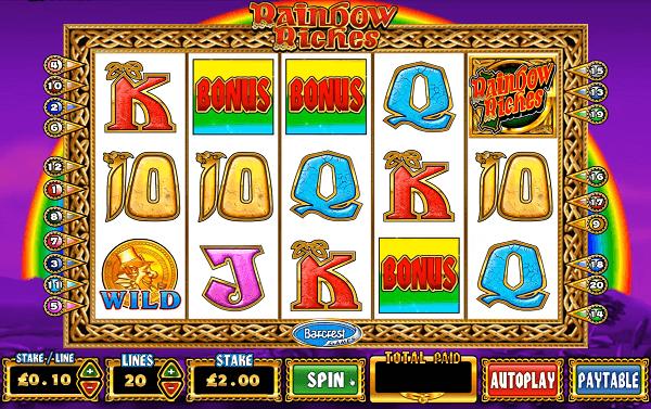 Rainbow Riches  in online casinos