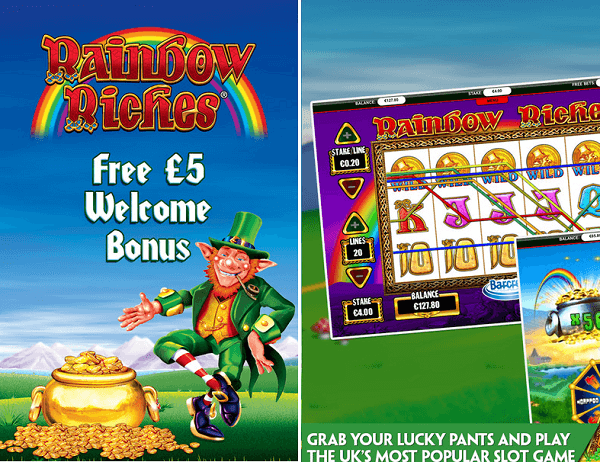 Rainbow Riches mobile app