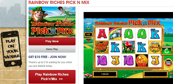 Rainbow Riches Mobile Free Play