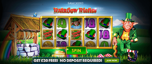 Rainbow Riches Deposit Bonus