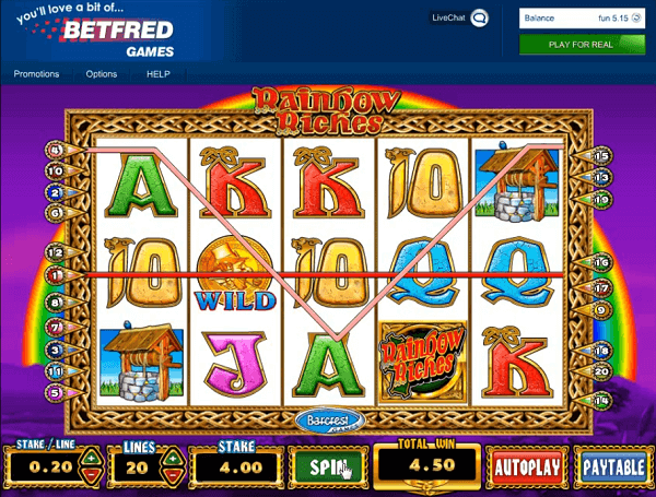 Rainbow Riches no deposit required