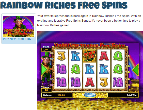 Play Rainbow Riches On App