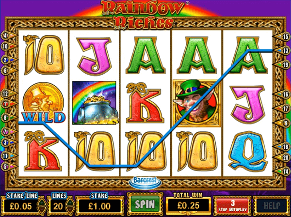 Rainbow Riches on Sky Vegas