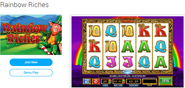 Rainbow Riches Retro Play