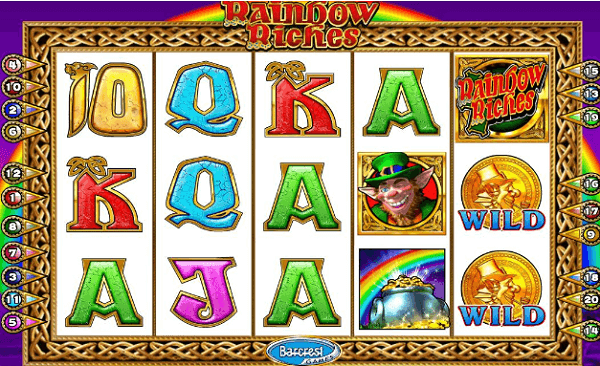 Rainbow Riches Slot Golden Charms