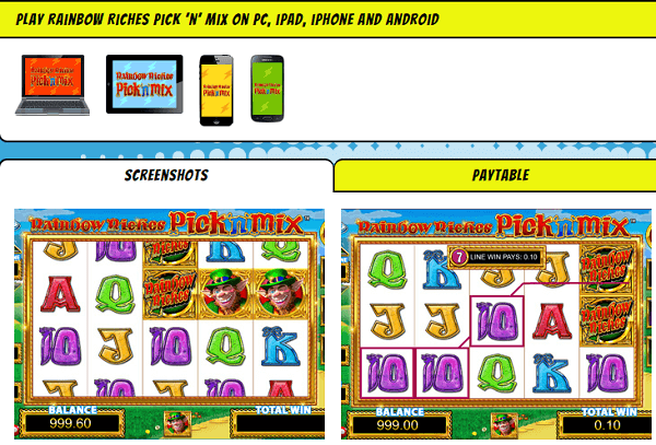 Rainbow Riches Slot iPhone App