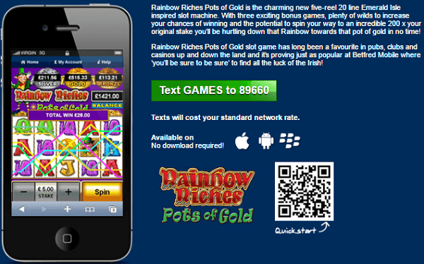 Rainbow Riches Slot Machine Free Online Mobile