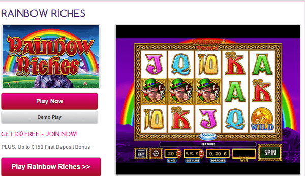 Rainbow Riches Slots For Fun