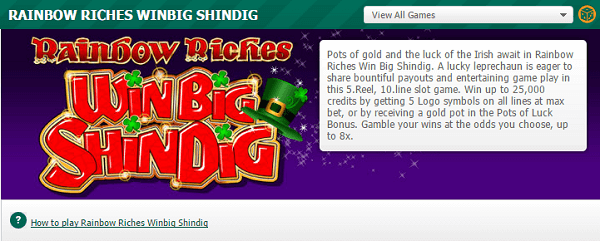 Rainbow Riches: Win Big Shindig