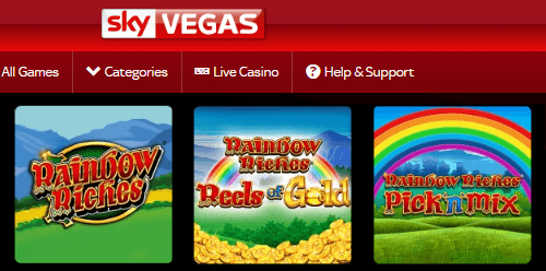 Sky Bet: Rainbow Riches Games