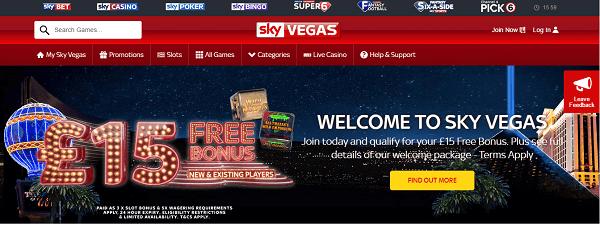 Sky vegas promotions