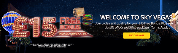 Sky Vegas Rainbow Riches promotion