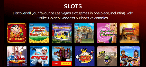 Sky Vegas slot machines variety