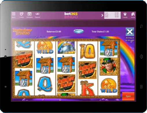 Bet365 Rainbow Riches Mobile
