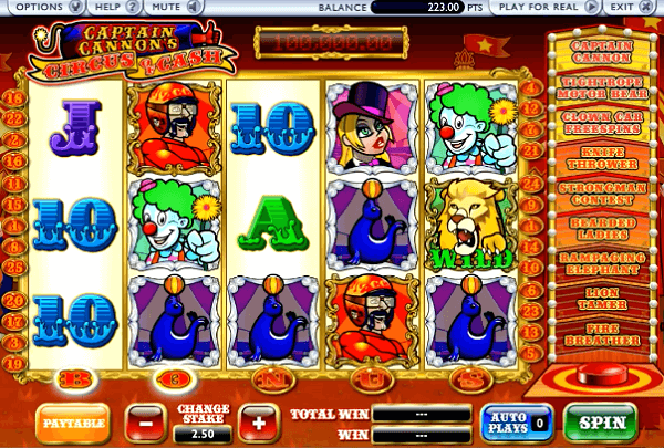 Captain Cannons Circus of Cash Slot