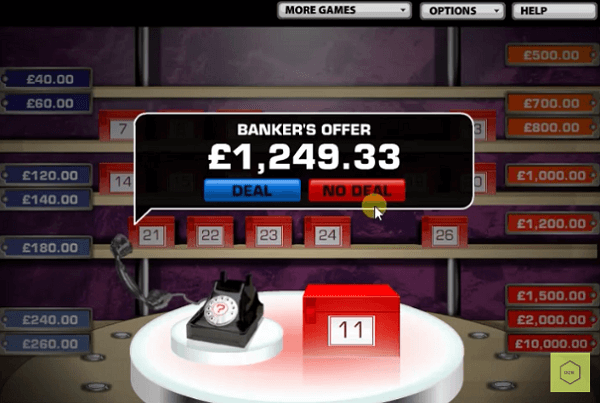 Deal or No Deal UK Slot