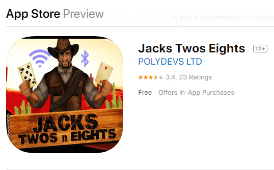 Jacks Twos and Eights Mobile App