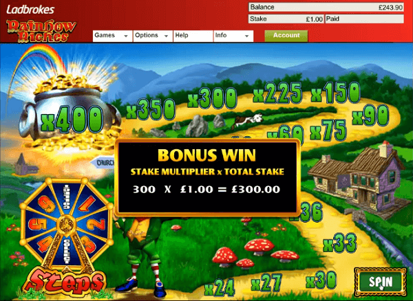 Ladbrokes Rainbow Riches Fields of Gold