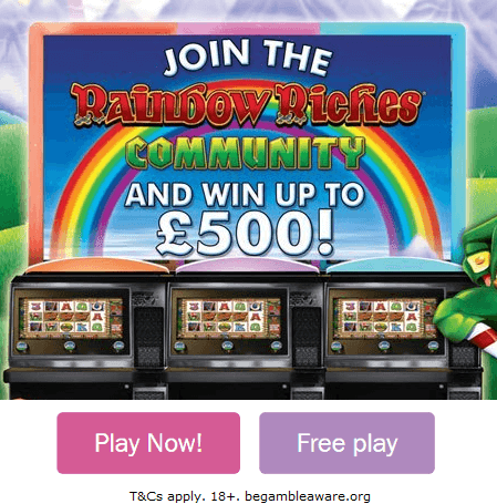 Play Rainbow Riches Community Cash Slot