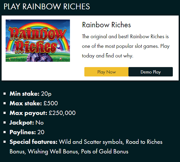 Play Rainbow Riches on the Fiddle