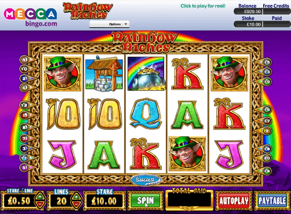 Rainbow Riches Free Play Mecca Bingo