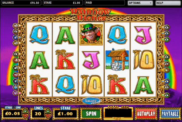 Rainbow Riches Slot Machine Features