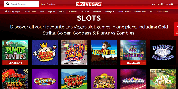 Sky Vegas Slots Review